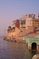 Varanasi Morning Stock by little-spacey