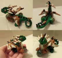 Multicolored Marble Dragon by Ember-Eyes