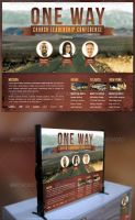 One Way Church Table Top Banner Template by loswl