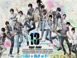 Super Junior colorful by tearystar08