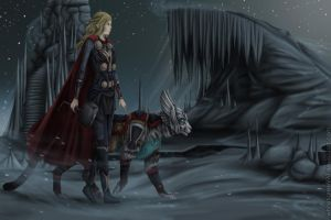Hike to Jotunheim by Niabolla