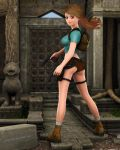 Lara Croft Toon Classic: Temple Entrance by JpauCroft