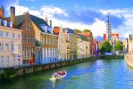 Belgium Canal Boat by smfoley