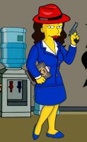 Simpsons Agent Carter by Brandtk