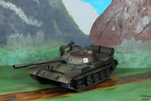 Russian T-55 tank Front by 12jack12