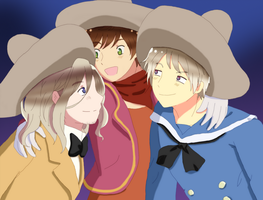 APH: We are three caballeros!! by EvilCoco95