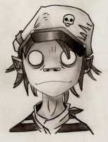 Gorillaz - 2D by Lightning-Lund