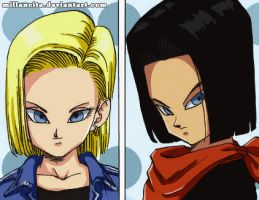 a17 a18... Dragon Ball by millancita