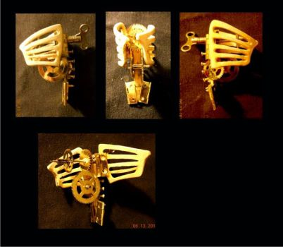 Wind Up Bird Ribcage by cazouillette