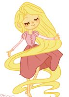 A Little Rapunzel by brusierkee