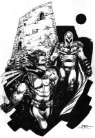 -Wolvie vs Magneto- by marco-itri