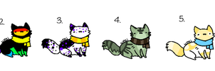 Offer to Adopt Scarf Kitties (CLOSED) by Neon-Spots-Adopts