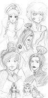 avatar girls sketch by daliciously