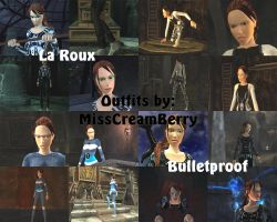 Lara Croft as La Roux Bulletproof outfits by MissCreamBerry