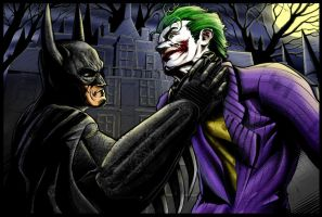 BATMAN VS JOKER by KYLE-CHANEY