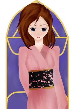 Kimono Painting Attempt by IndygoRogue