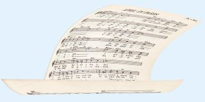 Floating Sheet Music 2 by markopolio-stock