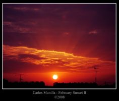 February Sunset II by cmunilla
