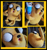Jake the Dog Plushie +for sale+ by SparkmanArtistry