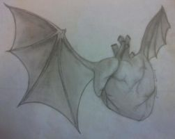 Bat heart thing by eager4damnation