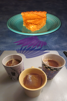 Pumpkin Cheesecake and Spiced Cider by BlindMediaProduction