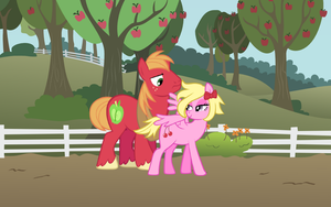 Cherry Flirtin' with Big Mac by pageturner1988