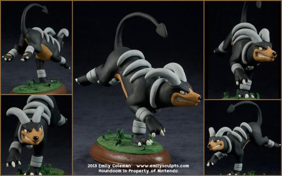 Commission : Houndoom Attacks by emilySculpts