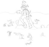 Sal And His Pokemon Friends by kera