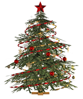 Christmas Tree PNG Stock by Roy3D