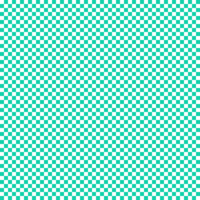 Turquoise Checkers by katnappe-gurl