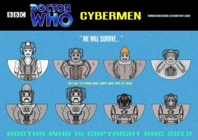 Doctor Who - Cybermen by mikedaws