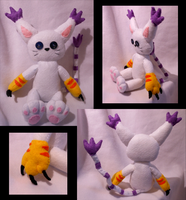 Gatomon Plush -For Sale- by FuzzyAliens