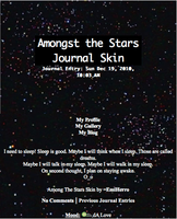 Amongst the Stars Journal Skin by EmiHerro