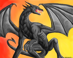 Black Dragon RaR by LauraRamirez