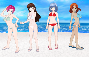 Kaze Ippai High School girls Bikinis by quamp