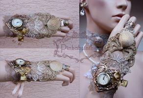 Sweetheart watch cuff by Pinkabsinthe