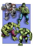 Hulk through the ages - UPDATED by Simon-Williams-Art