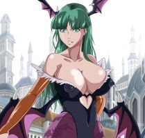 Darkstalkers Busty Morrigan Aensland by greengiant2012