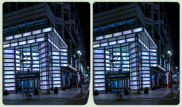 Berlin @ Night 3-D / Stereoscopy / CrossView / HDR by zour
