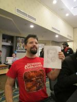 Mark the red holding Chris Duppenthaler Quick draw by Poorartman
