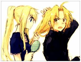 edward and winry kawaii by nytboy