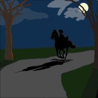 A Rider In The Night by TroyandFriends