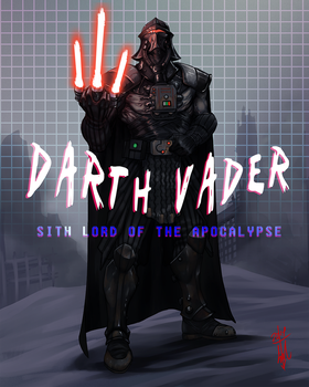 Darth Vader Cyberpunk Wasteland Remix by thedarkcloak