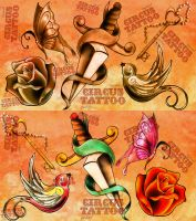 traditional tattoo flash 1 by loop1974