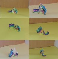 My little plasticine: Royal Sisters- Celestia by scootie-wootie