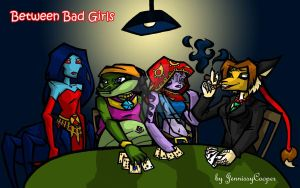 Between Bad Girls by JennissyCooper