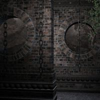 Chained Walls Background by zememz