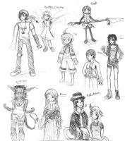 DHT sketches by Happyhappymouse