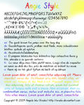 Angie Style Font by xraiko