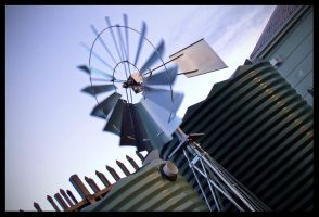 Early Morning Windmill by nitrolx